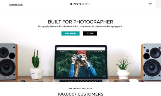 Thème WordPress pour site de photographe