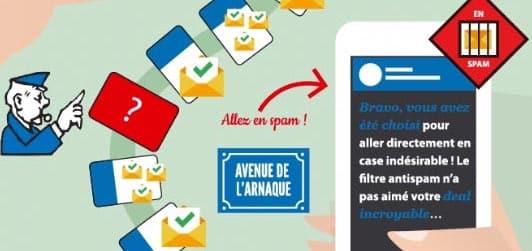 spam words arnaque
