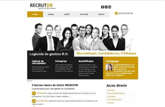 Logiciel de recrutement Recrutor