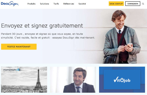 Outil de signature électronique Docusign