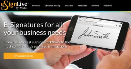Outil de signature électronique eSignLive
