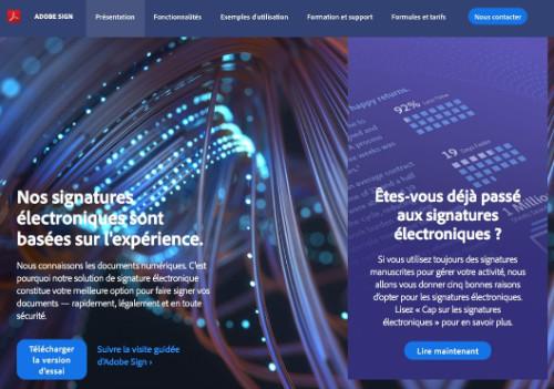Outil de signature électronique Adobe Sign