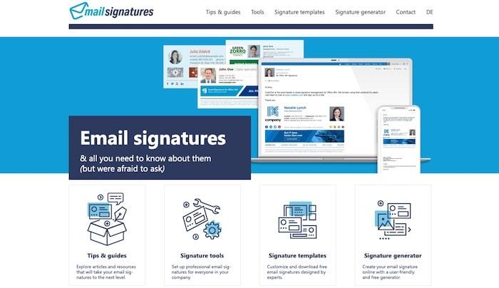 Mail Signatures outil de création de signature mail en HTML