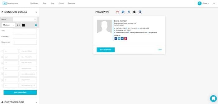 Newoldstamp outil de création de signature mail en HTML