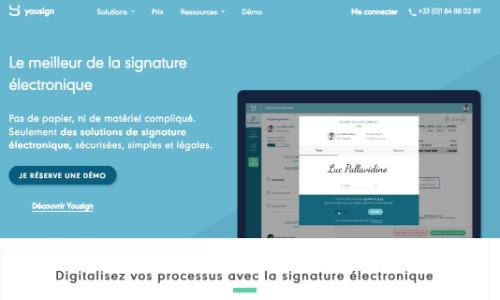 Outil de signature électronique YouSign