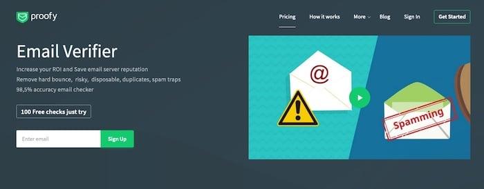 Logiciel de nettoyage de mailing liste Proofy