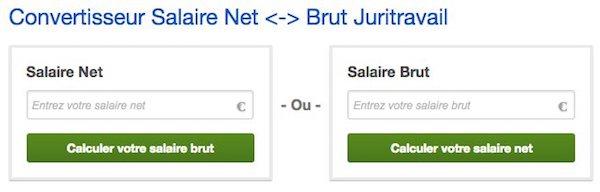 Simulation du salaire brut / net