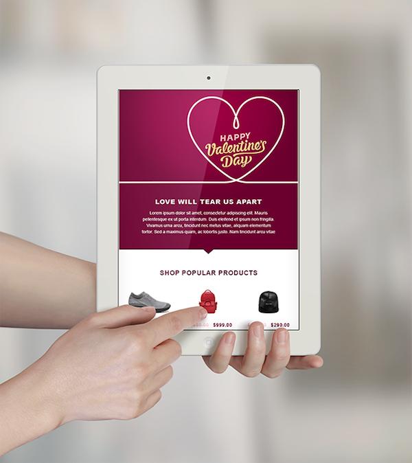 Template email gratuit Saint-Valentin
