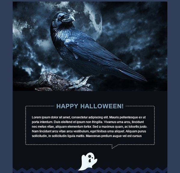 Template email gratuit Halloween