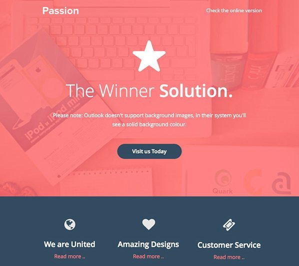 Template email gratuit HTML