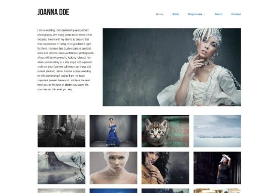 Thème WordPress pour portfolio