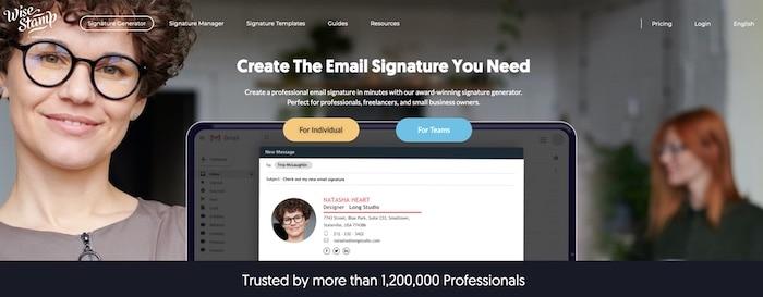 Wisestamp outil de création de signature mail en HTML
