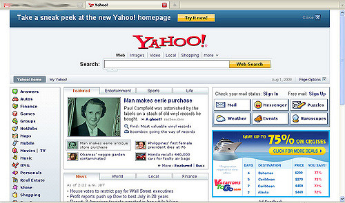 Yahoo vieille version