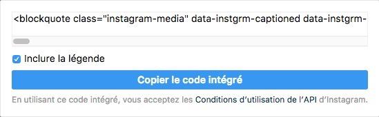 Intégrer une publication Instagram sur mon site web