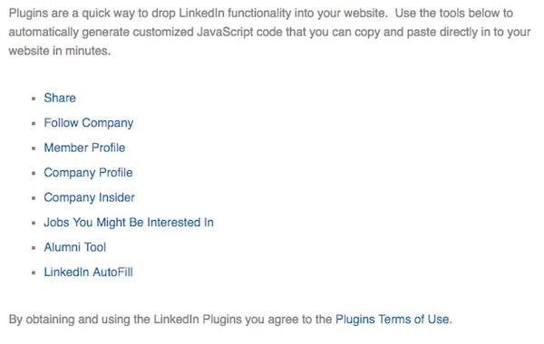I ntégrer un profil LinkedIn sur son site web