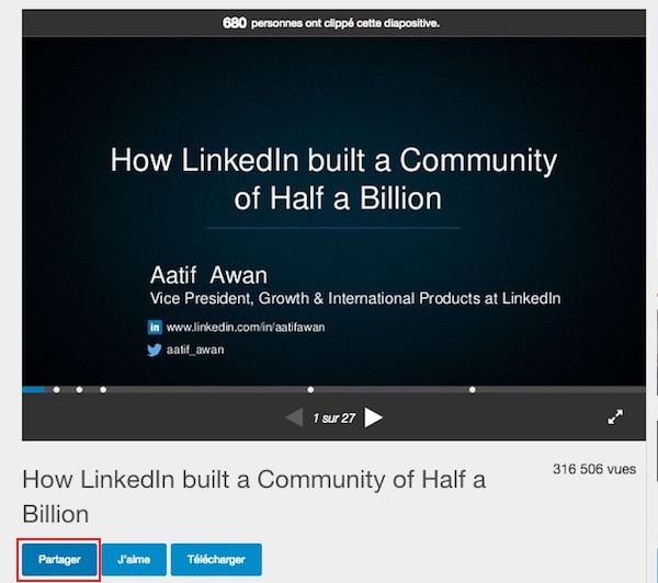 Intégrer une présentation SlideShare sur son site web