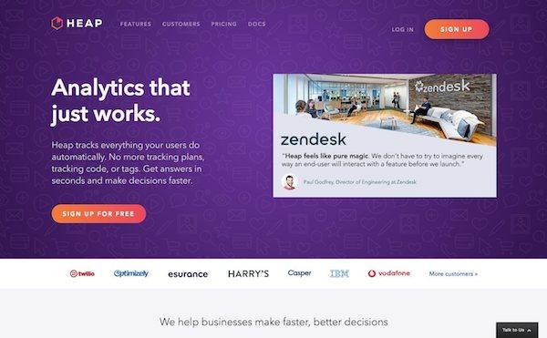 Heap, alternative à Google Analytics