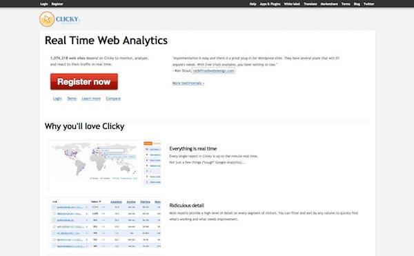 Clicky, alternative à Google Analytics