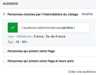 ciblage facebook ad