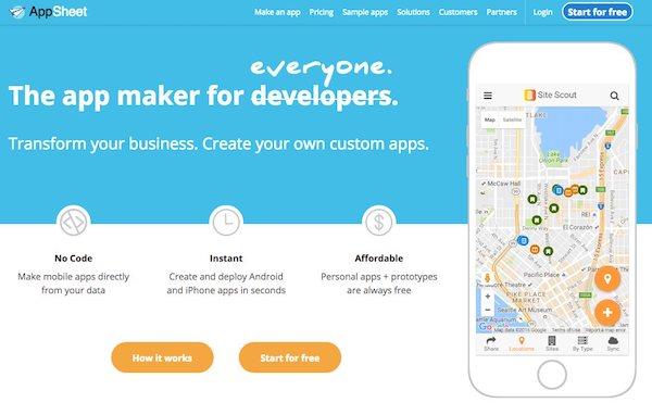 créer une application