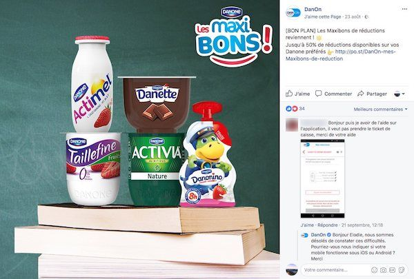 réduction sur facebook