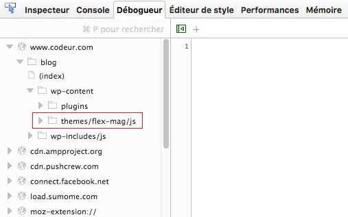 connaître le thème wordpress d'un site avec Firefox
