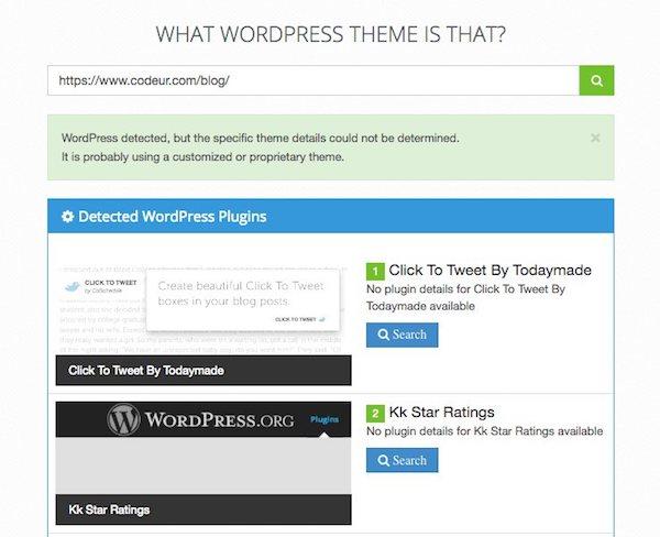 connaître le thème wordpress d'un site