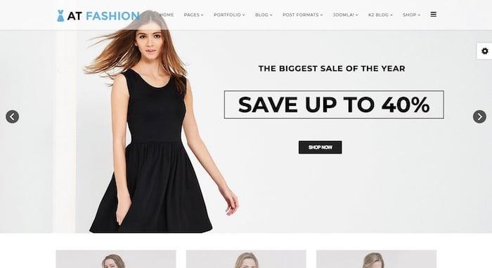 AT Fashion Shop template Joomla ecommerce gratuit