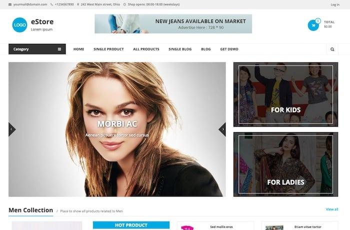 eStore thème ecommerce gratuit Drupal