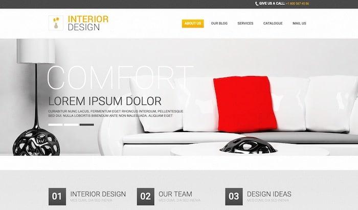 Interior Design thème Drupal gratuit