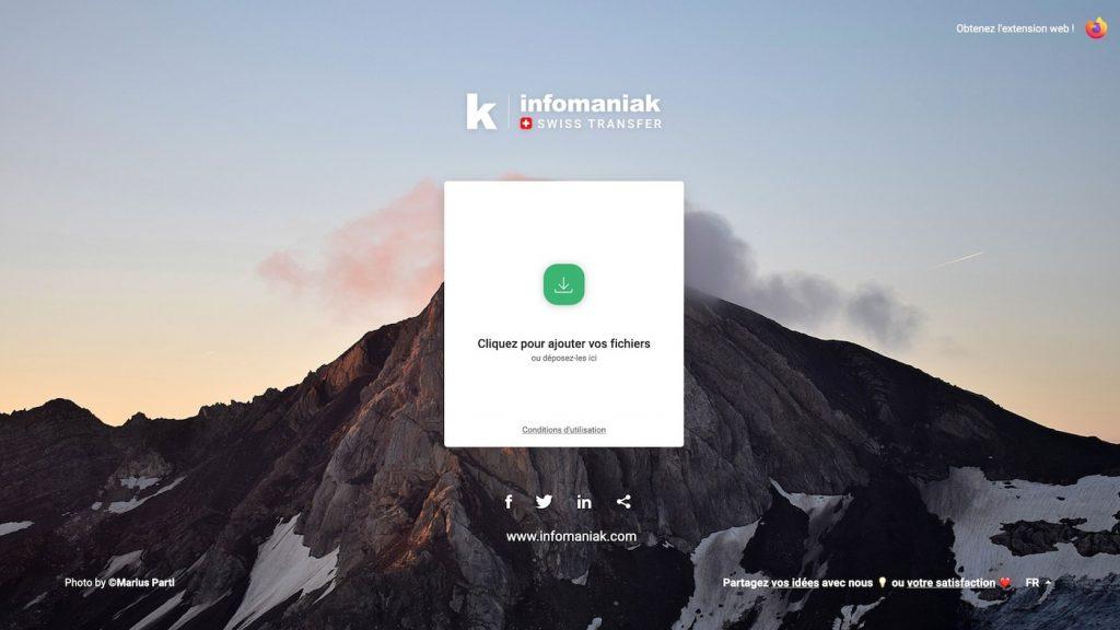 SwissTransfer site d'envoi de fichiers gratuit