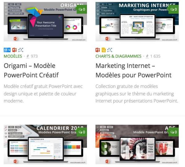Super Top 10 des sites pour trouver des templates PowerPoint gratuits JU96