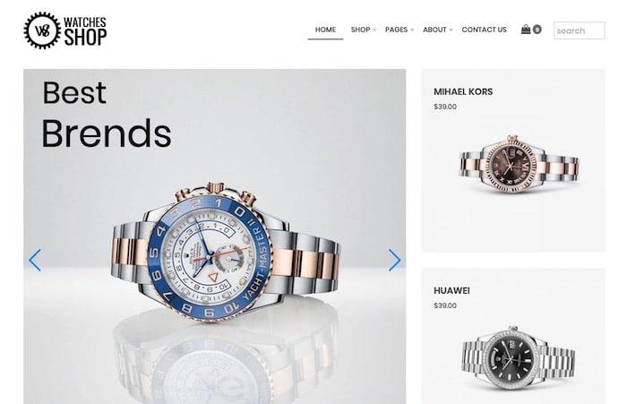Watches Shop thème Joomla gratuit