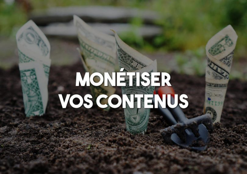 monétiser contenus web