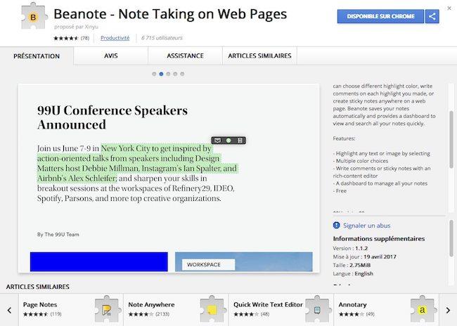 annoter du texte sur le web