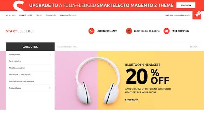 Start Electro thème Magento gratuit