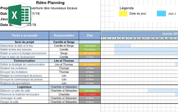 télécharger un modèle de rétro planning