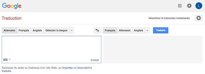 Google Traduction, traduction gratuite en ligne