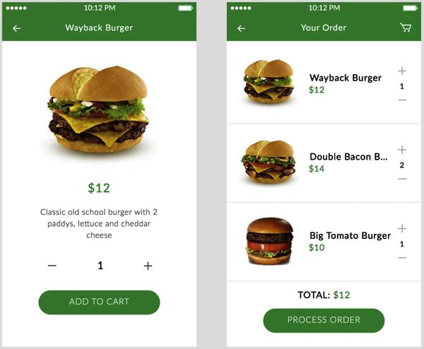 Application mobile e-commerce : achat en un clic