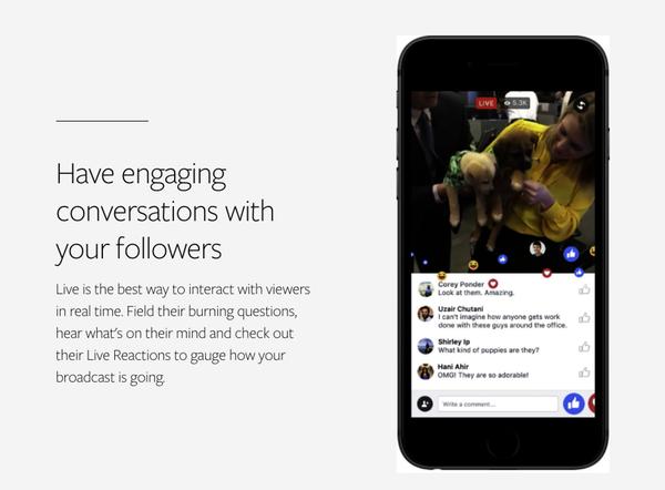 Plus d'engagements avec une vidéo live Facebook