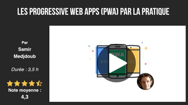 formation développement progressive web apps