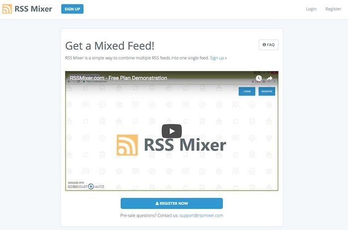 fusionner des flux rss avec rss mixer