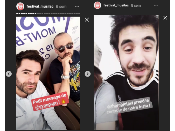 Influenceur storie Instagram