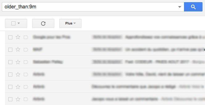 opérateurs de recherche gmail