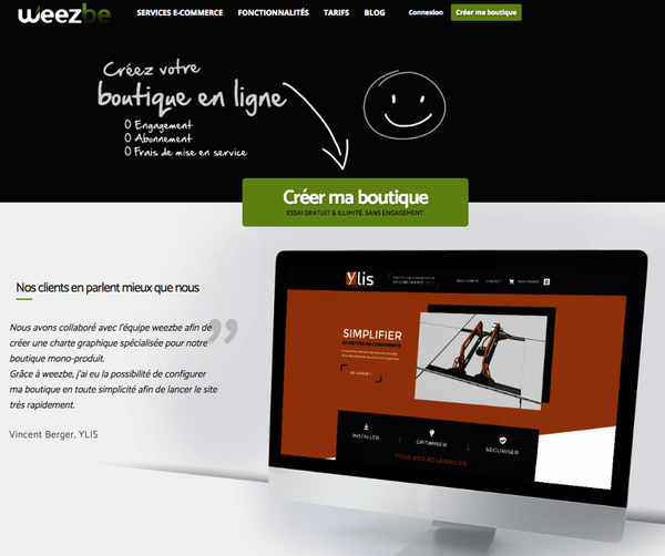 Site e-commerce Weezbe