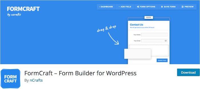 plugin formulaire de contact wordpress