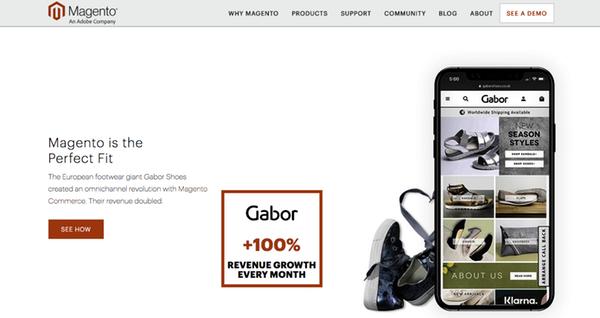 CMS Site ecommerce Magento