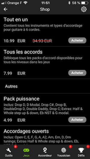 achats intégrés app