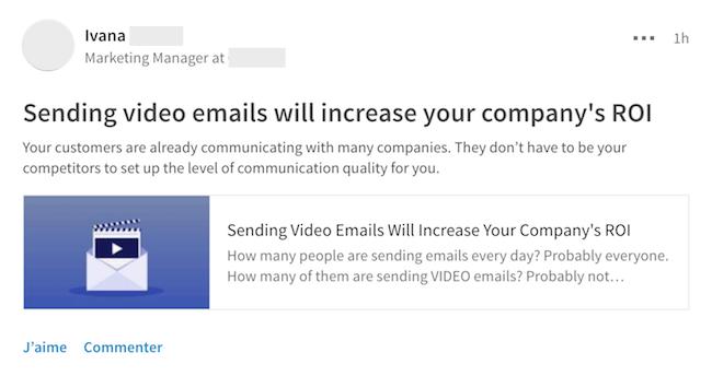 Auto-promotion Linkedin