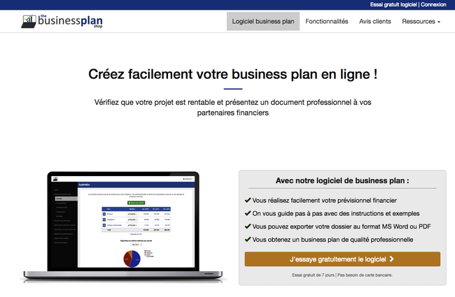 business plans shop gratuit